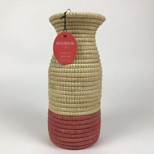 "Opalhouse Hand Woven Raffia Vase 12"" x 5.2"""